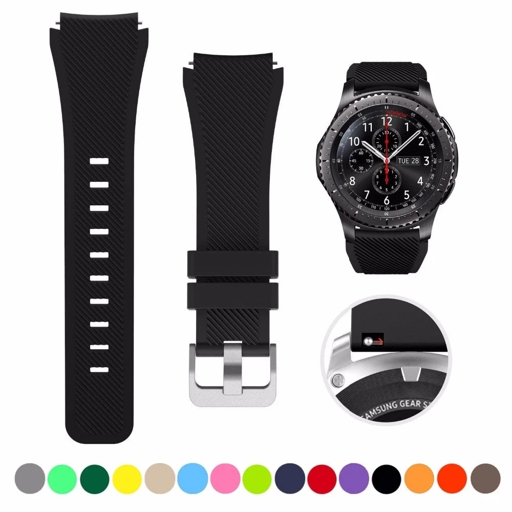 Strap For Samsung Galaxy Watch 3 45mm/41/Active 2 Gear S3 Frontier/Huawei Watch Gt 2e/2/Amazfit Bip/Gts2 Band 20/22mm Watchbands