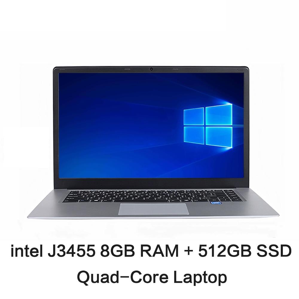 Get CHUANCHI LapBook Pro 15.6 Inch Intel Quad Core 8GB RAM 128GB 256GB 512GB SSD Laptop Windows 10 Netbook J3455 Ultrabook