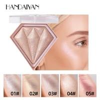 5 colors highlighter facial palette makeup face glitter highlighter cheekbones natural women makeup beauty tool fast delivery