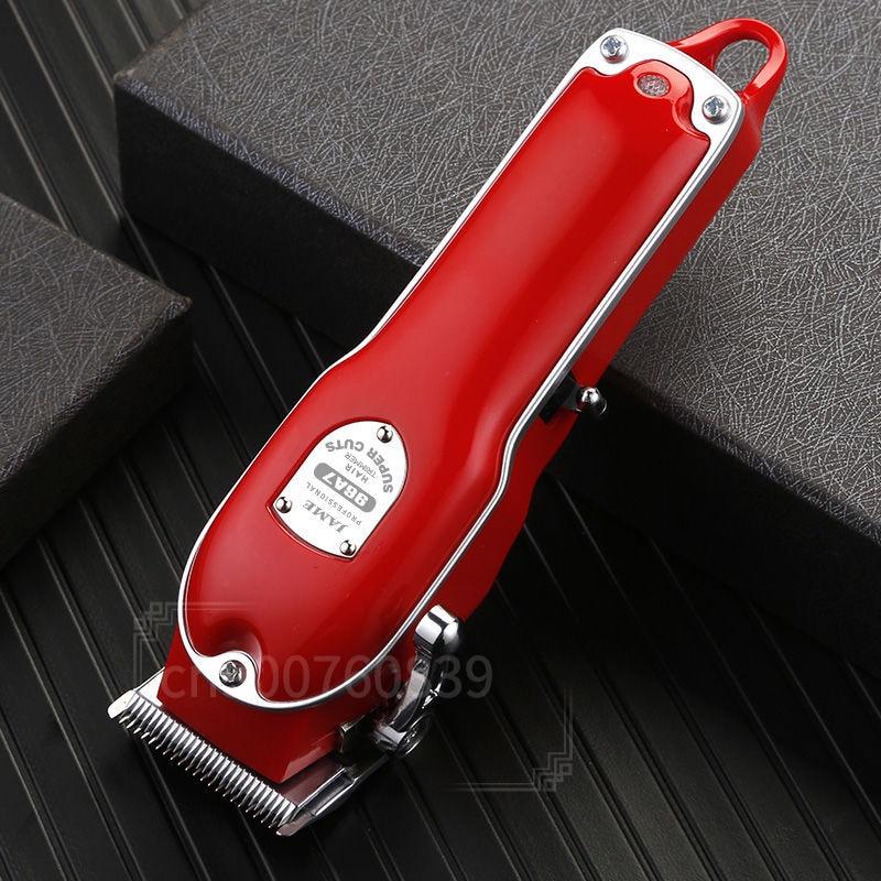 Red Metal Barbershop Cutter Hair Cutting Machine Haircut Cordless Hair Clipper Hair Trimmer Pop Barbers 110-240v