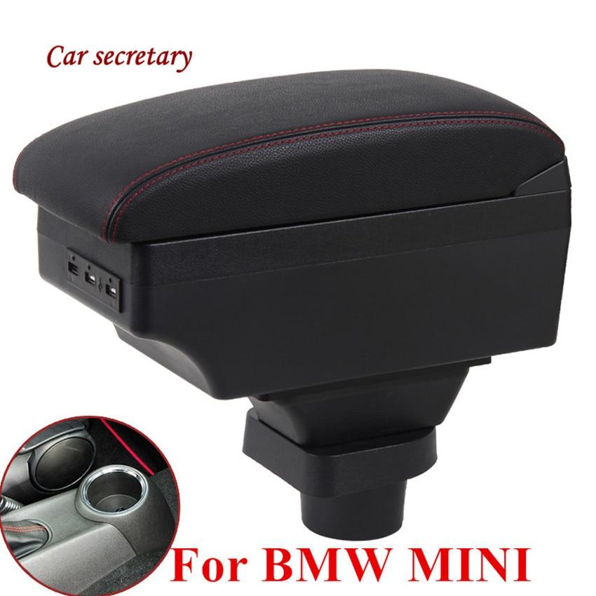 Para BMW MINI Cooper R50 R52 R53 R56 R57 R58 F55 F56 F57 Countryman R60 F60, compartimento de almacenamiento de apoyabrazos Central, accesorios de modificación