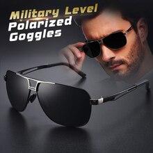 Top Aluminum Magnesium Square Polarized  Photochromic Sunglasses Men Sun Glasses Military Safety Dri