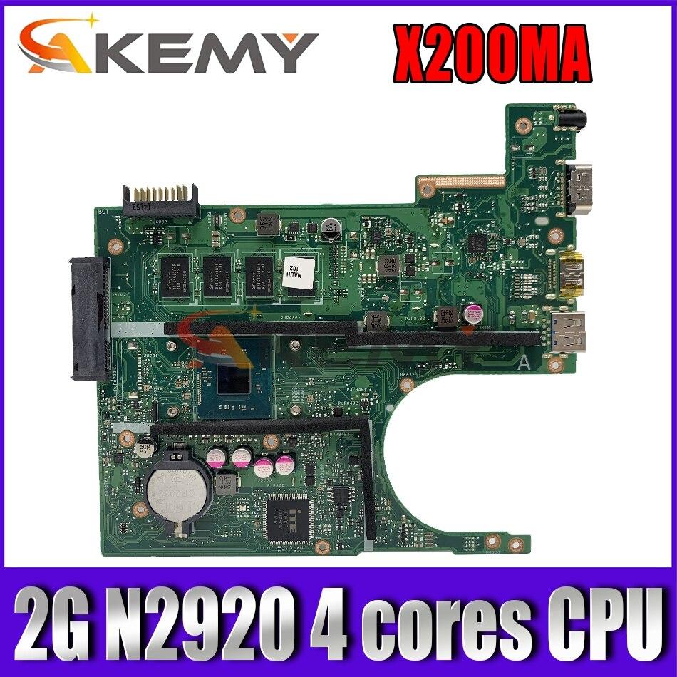 اللوحة الام XinKaidi X200MA المحمول ل ASUS X200MA F200M F200MA اختبار اللوحة الام الأصلية 2G-RAM N2920 4 النوى CPU