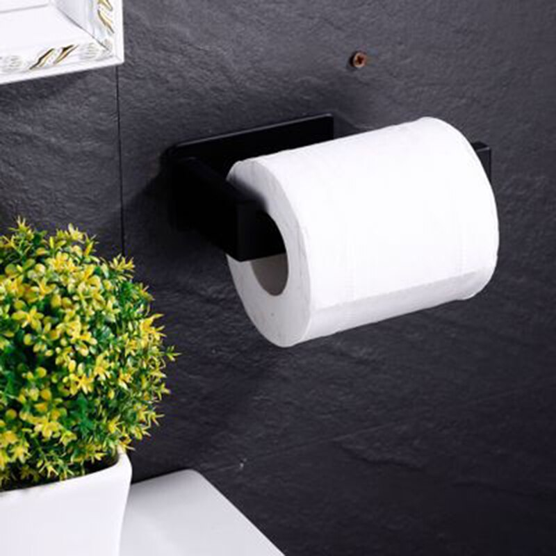 304 Self Adhesive Stainless Steel Kitchen Tissue Hanging Holder Bathroom Toilet Roll Paper Holder Towel Rack Cabinet Door Hook self adhesive roll paper holder bathroom toilet paper holder kitchen towel holder rack tissue hanger rack hanging organizer