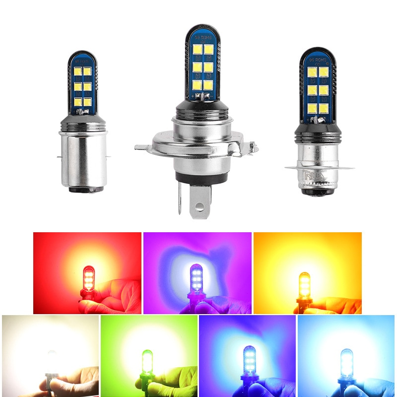 f4 motorcycle electric vehicle led bulb h4 far near integration h6 super bright hs1 refitting ba20d double claw three claw SOURCE New Style Bright H4 Motorcycle LED Headlight BA20d Double Claw Led Motorcycle Lamp P15d Bulb