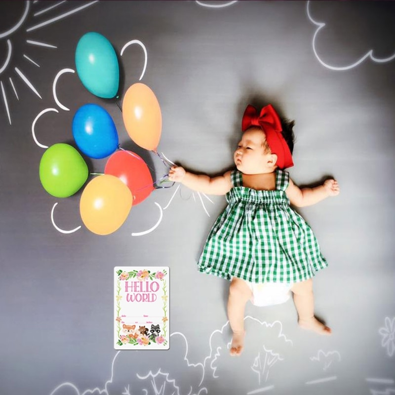 12 листов, карты для фотографий Milestone, подарочный набор, Детские карты для возраста, карты для младенцев Milestone, Детские фото-карты для новорожд...