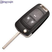 Jingyuqin 3B складной пульт дистанционного управления автомобильный ключ для Chevrolet Cruze Epica Lova Camaro Impala 2 3 4 5 Кнопка HU100 чехол с лезвием