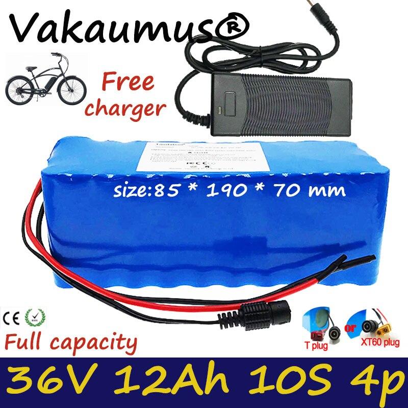 Batería de 36v, balans bms 10s 36v, 36v, 12Ah, bicicleta eléctrica de gran capacidad de 36v y 500W con cargador de 42V