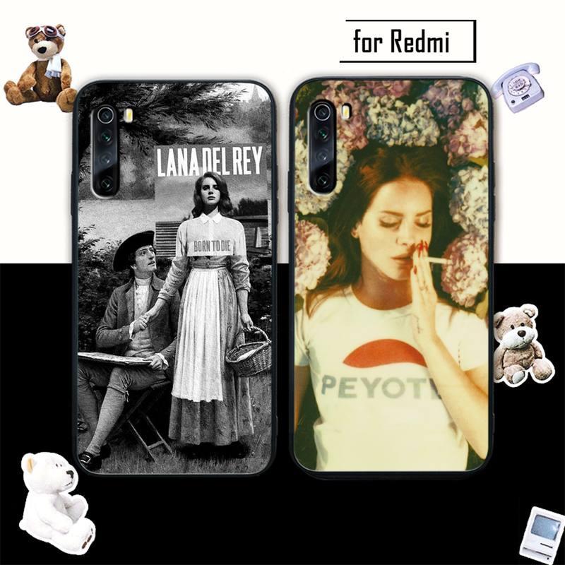 Lana Del Rey de lujo cubierta de la caja Del teléfono móvil para xiaomi redmi note 4X 5 6 plus 6A 7 7A 8 8A 9 Nota 4 8 T 9 pro max funda carcasa