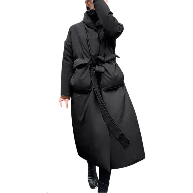 Фото - Women 2020  Long Down Coat Winter Down Black Jacket Female Long White Duck Overcoat Warm Thickened Down Jackets Women пуховик long down jkt 1
