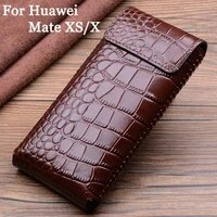 luxury genuine leather case for huawei mate xs cases hold phone book cover bags for huawei mate xs x