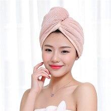 Bonnet Turban serviette de bain en microfibre   Séchage rapide des cheveux, chapeau de bain douche, bonnet serviette, cheveux magique, gorro ducha