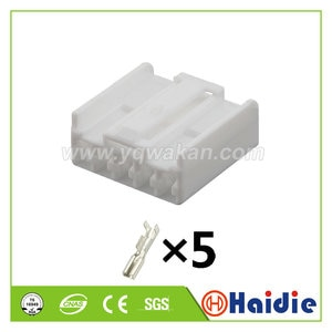 Free shipping 5sets 5pin auto plastic housing plug electric unsealed connector with terminals