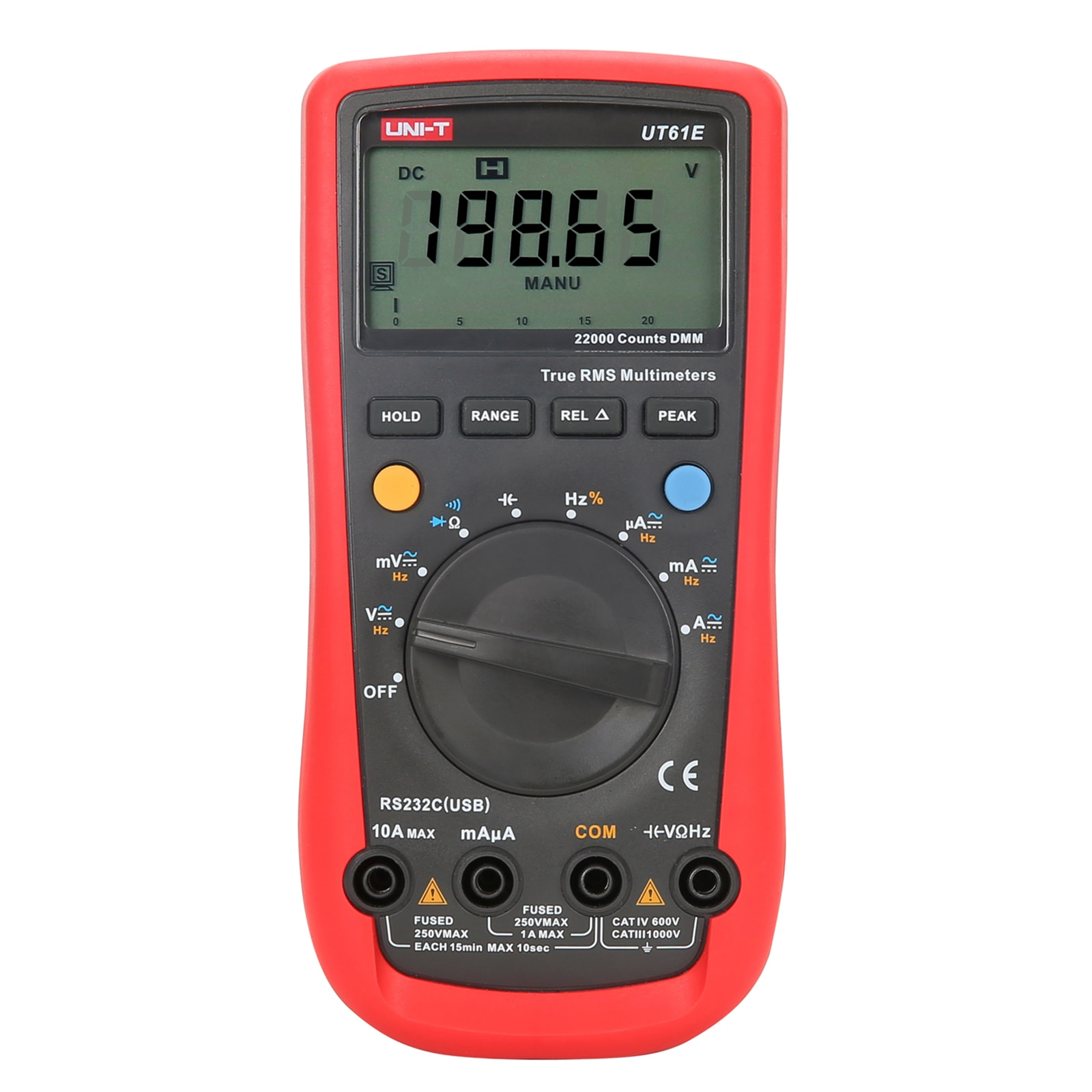 UNI-T Digital Multimeter UT61E 6000 Counts Manual Frequency Temperature Voltage Ammeter AC DC DMM Capacitor Tester NCV