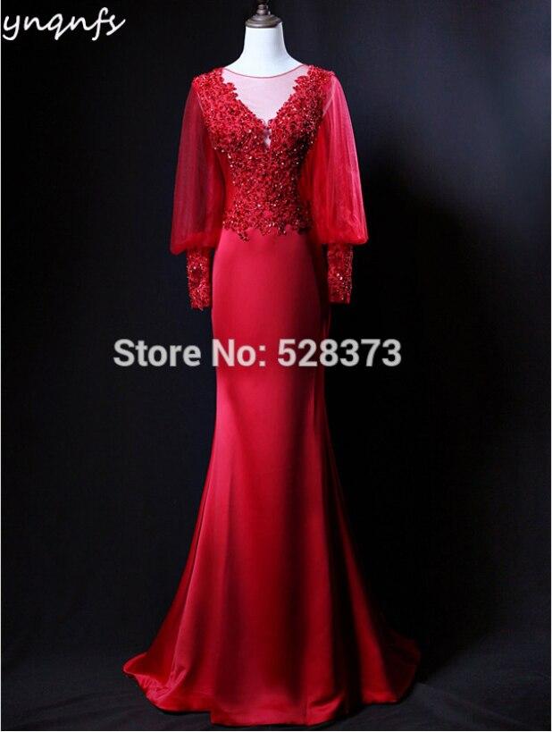 YNQNFS-Vestido largo de noche para Madre, prenda de vestir Formal de color...