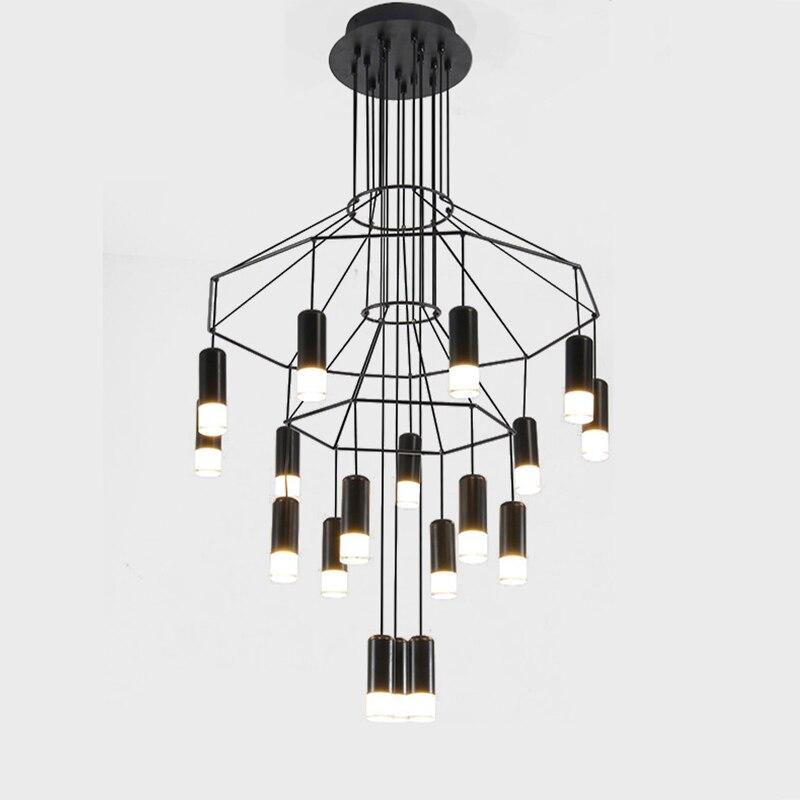 Дизайнерская Потолочная люстра, светодиодная лампа для гостиной, столовой, спальни, лобби, лестницы, лофт, украшение для дома, осветительный...