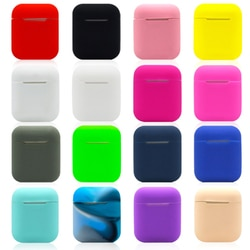 Silicone macio portátil airpod caso fone de ouvido bluetooth capa protetora pele para airpod capa