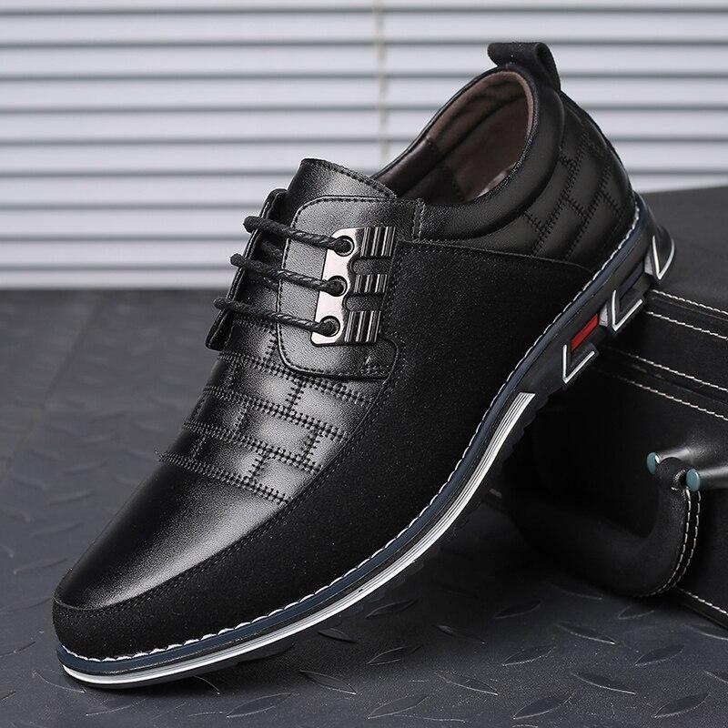 De alta calidad de gran tamaño zapatos casuales zapatos de los hombres de negocios de moda de los hombres zapatos casuales zapatos de gran oferta primavera respirable zapatos casuales hombres negro