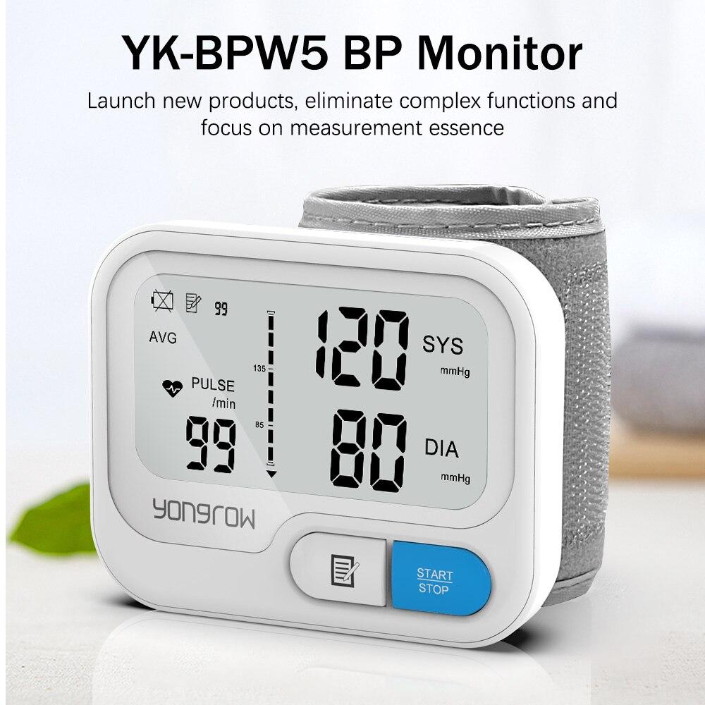 Yongrow Automatic Digital Wrist Blood Pressure Monitor sphygmomanometer Tonometer Tensiometer Heart Rate Pulse Meter BP