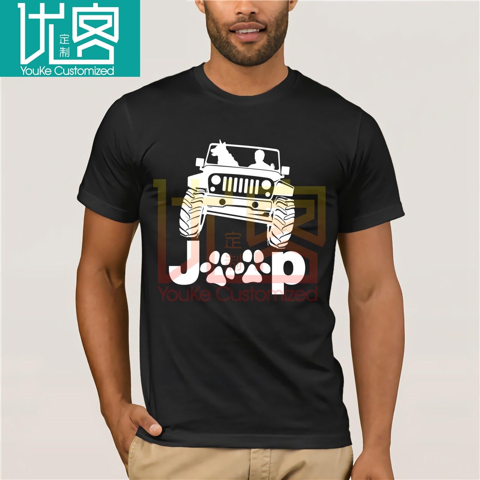 Jeep chien Canine B K 9 T-shirt inversé hommes et femmes t-shirts Phiking imprimer pièce décontracté coton hauts courts col rond popeline régulière