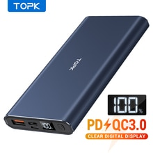 Topk 10000 Mah Power Bank Pd QC3.0 Snel Opladen Draagbare Usb C Led Display Externe Lader Batterij Voor Xiaomi Mi 9 8 Iphone