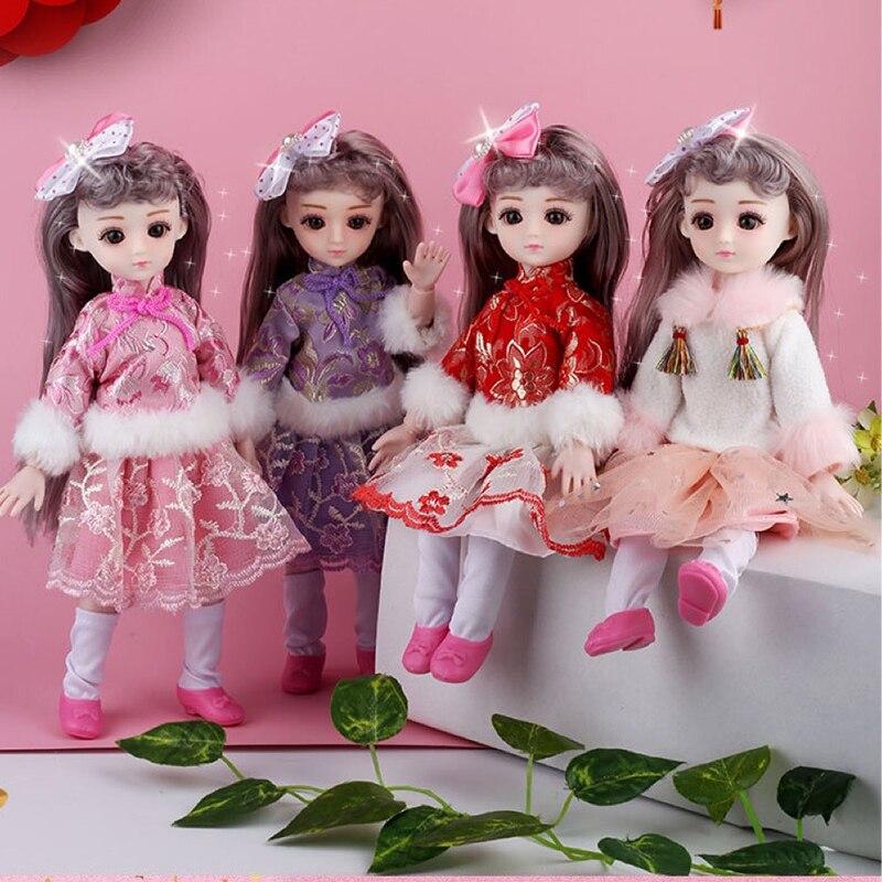 Estilo chino 27cm BJD muñeca belleza princesa niña vestido 13 muñecas articuladas móviles Bjd juguetes vestido BJD pelo DIY juguete para regalo para niñas