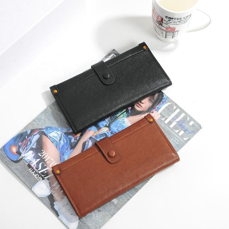Women's Handmade wallet bag women's Cowhide wallet women's Vintage Leather Wallet women's long zipper 2021 women's