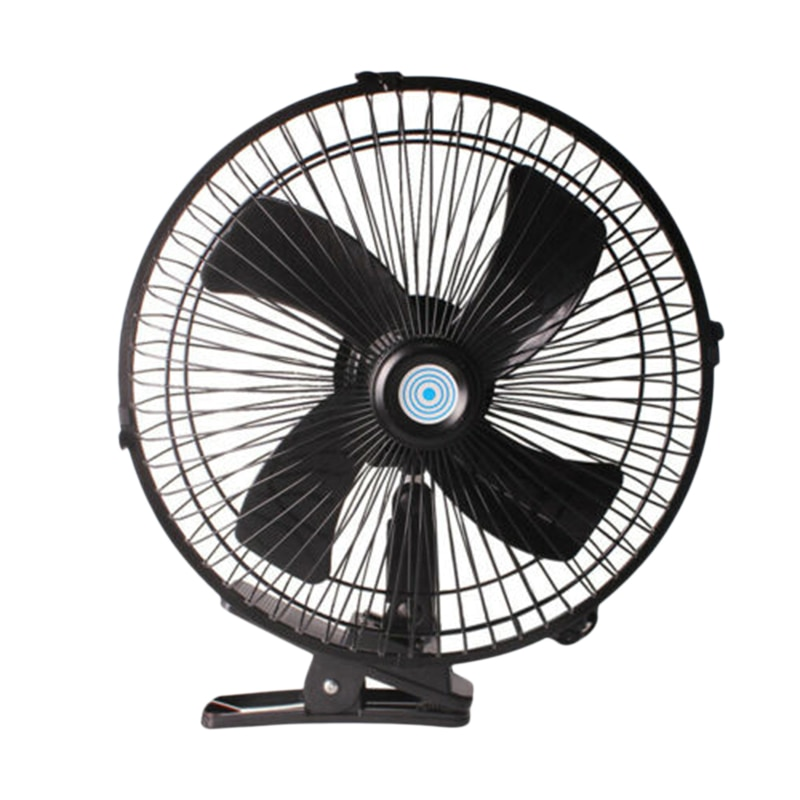 10 Inch 12V Car Electric Fan Adjustable Speed Oscillating Cooling Fans with Clip for Home Travel Car Truck