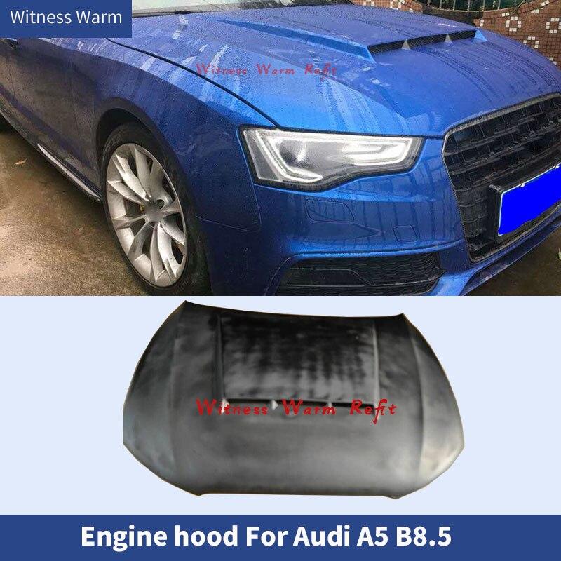 Капот двигателя из углеродного волокна для Audi A5 2012-2016 FRP, крышка двигателя для Audi A5 b8,5, капот двигателя из углеродного волокна