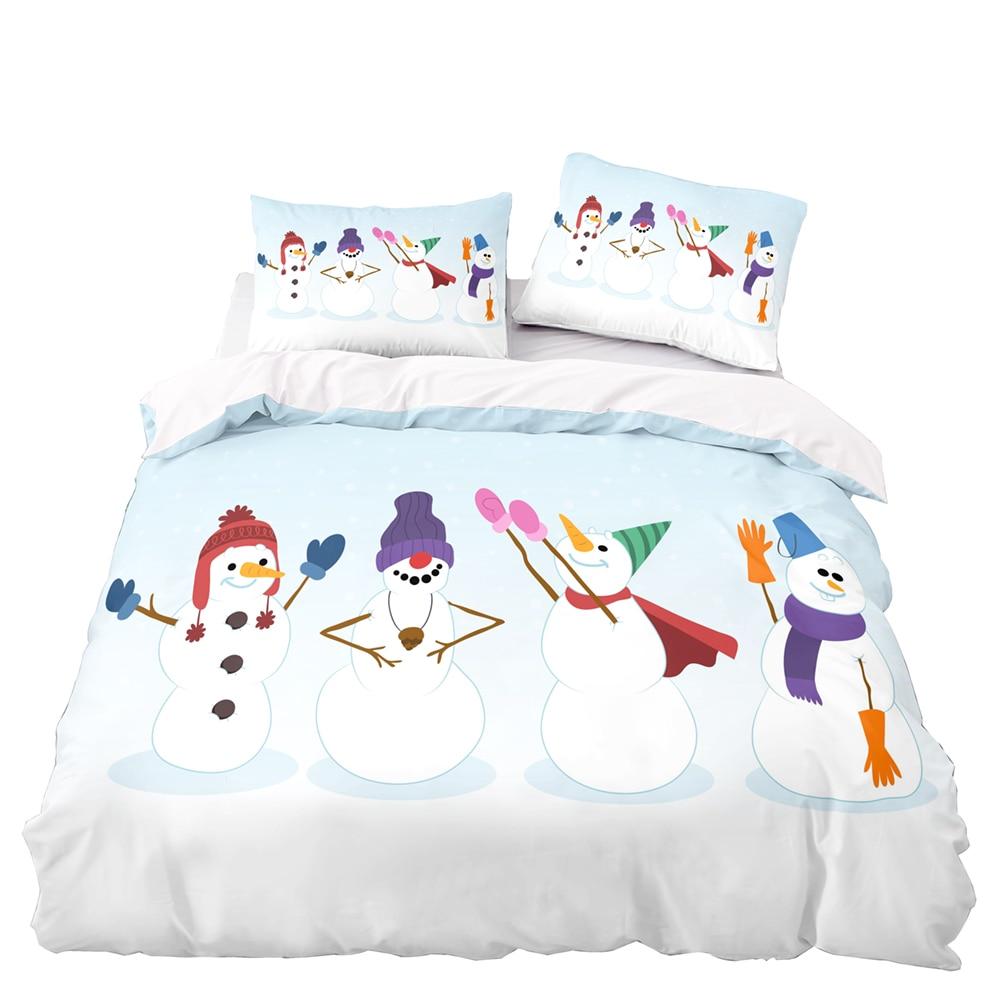 الكرتون نمط حاف الغطاء 210x210 مع المخدة ، 260x220 غطاء لحاف ، اضافية كبيرة الحجم غطاء بطانية ، ثلج نمط طقم سرير