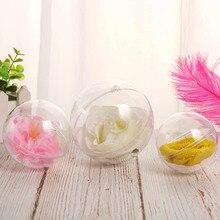 10 stücke Transparent Balls Sphere Baubles DIY Ornament Hängen Für Weihnachten Baum Party können CSV