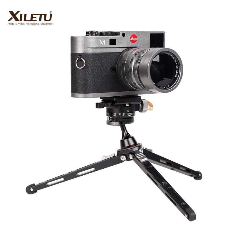 XILETU XBC20 + XT18 حامل عالي يوضع على سطح المكتب شوّاية منضديّة صغيرة ترايبود ورأس كروي لكاميرا DSLR بدون مرآة هاتف ذكي