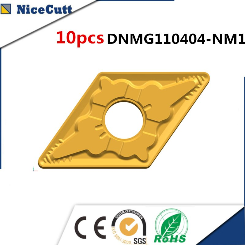 10 Uds. DNMG110404-NM1 torno carburo tungsteno torneado inserto para acero torno portaherramientas DDJNR1616H11 envío gratuito Nicecutt