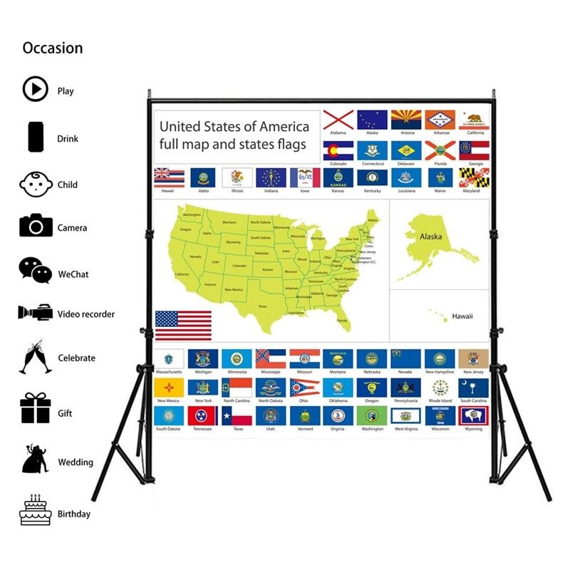 Карта США 60*60 см винтажная карта мира культура плакаты карты декор настенная живопись для дома школы образование Декор