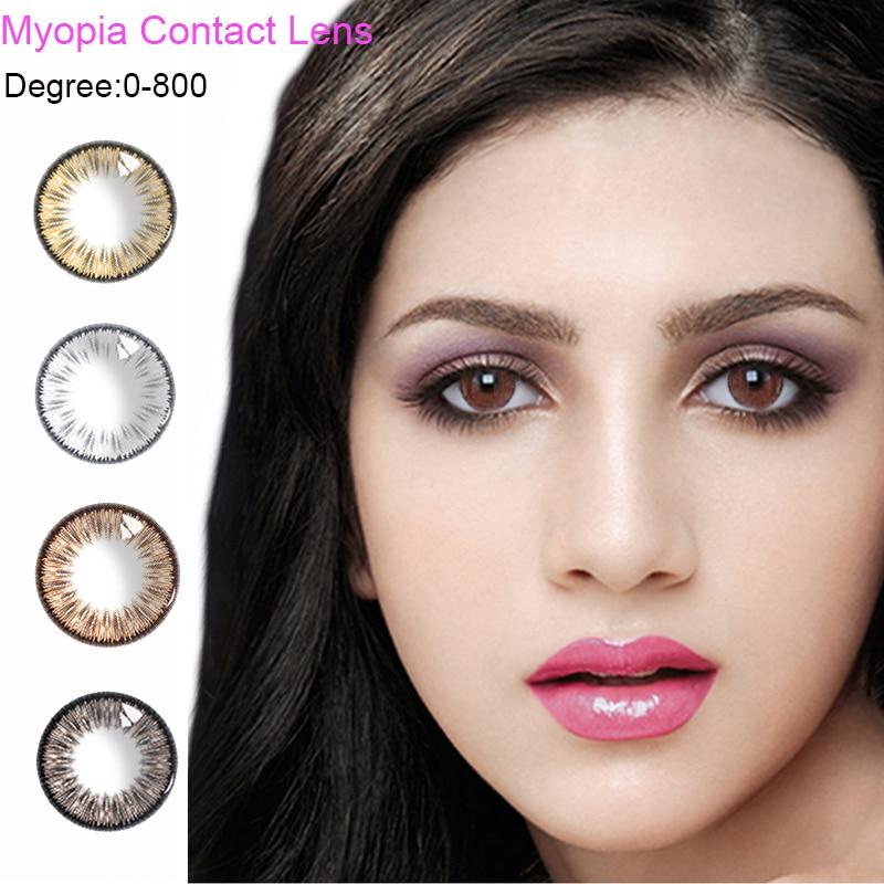 2 uds./1 par de contactos de colores lentes pupila fluorescentes de verano para maquillaje de ojos de fiesta cosméticos DIA 14,5mm