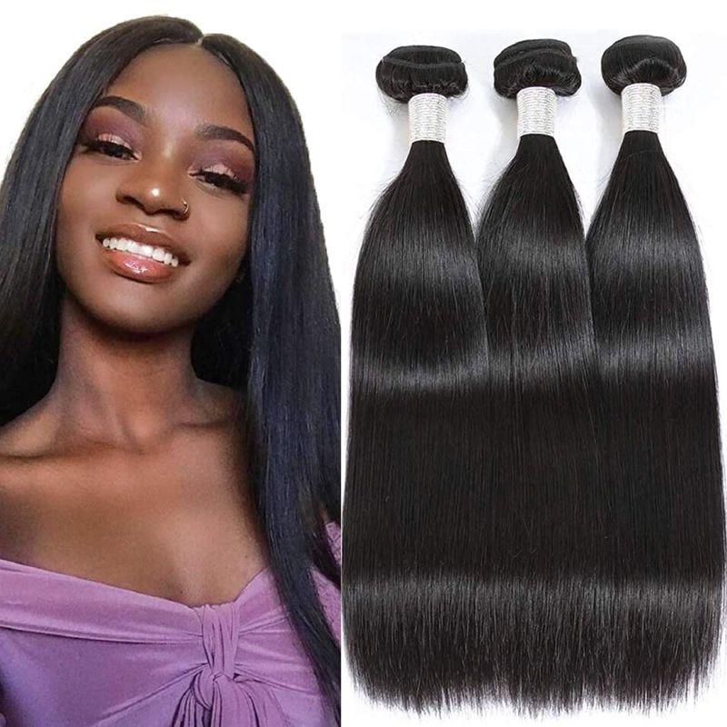 3+1 3 Bundles with Closure Bliss Brazilian Human Hair Bundles Weave 28 30 Inches Straight Hair Bundl
