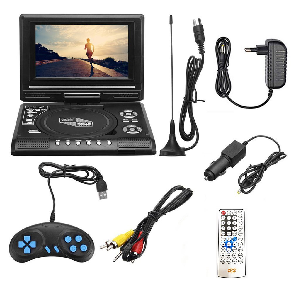 Multifuntional TV/FM/USB/ 7.8 inch HD TV Portable DVD Player HD Portable CD TV player Multimedia Player