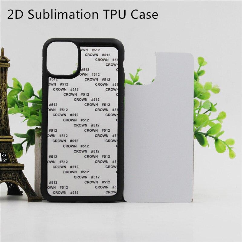 2d sublimação caso para iphone 11 pro max x xr xs max 6 s 7 8 plus 5 5S se 2020 tpu + pc impresso em branco capa 10 pçs