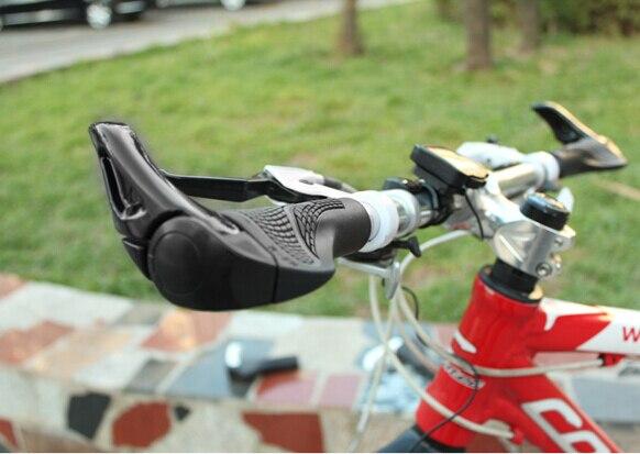 Bicycle Bike MTB Bar ends handle bar Handlebars Rubber & Aluminum Barend Handle Bar Ergonomic Push On Soft