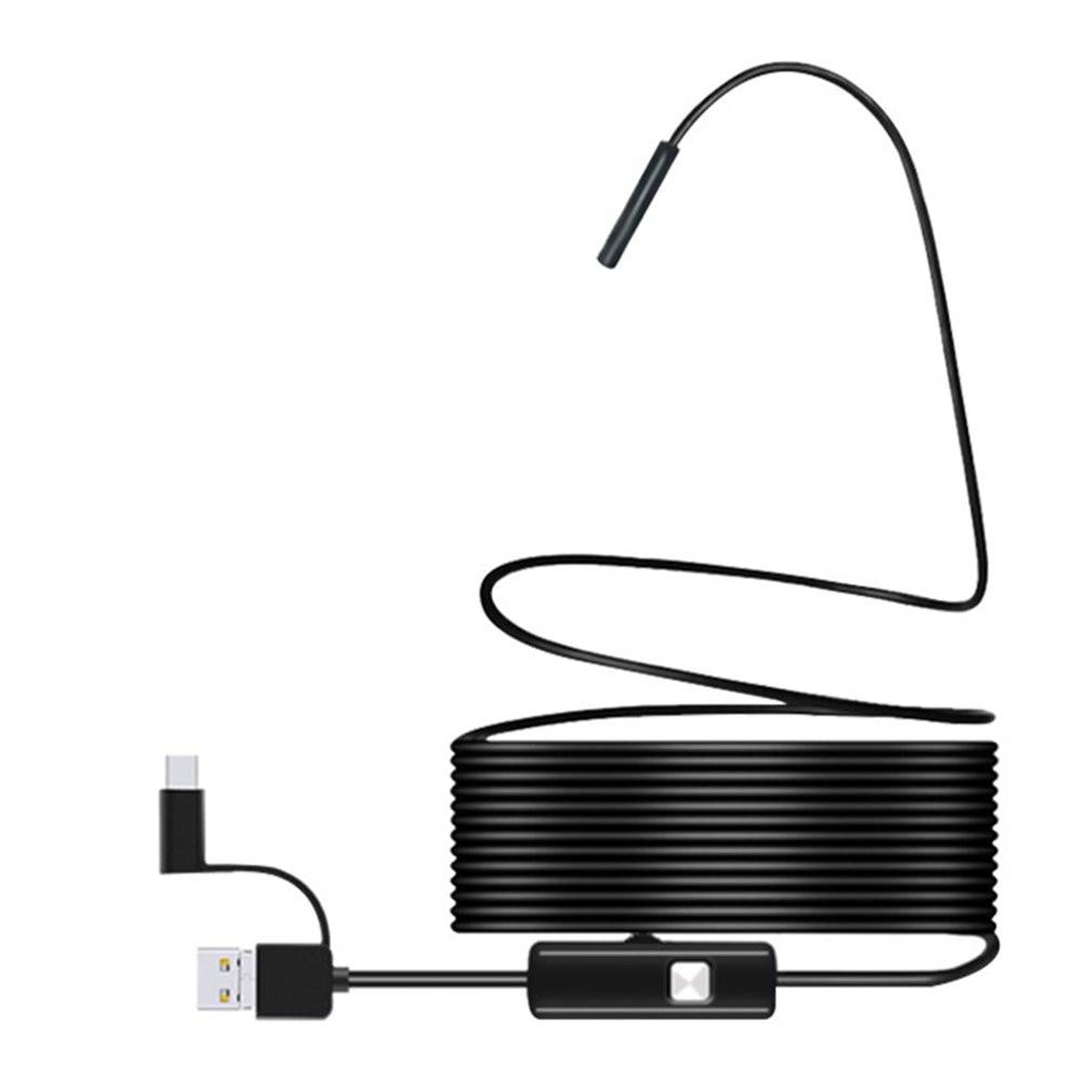 Endoscopio de tubo para teléfono móvil de alta definición multifuncional 3 en 1 de 7mm