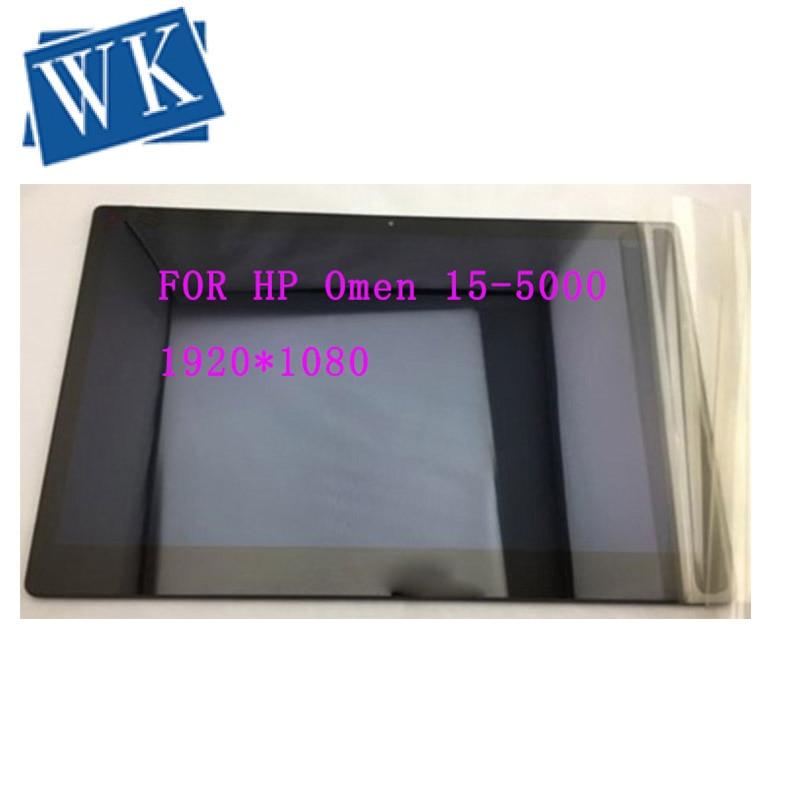 "O envio gratuito de 15.6 ""conjunto lcd portátil para hp omen 15-5000 5010 ltn156hl02 n156hge lcd screen display toque digitador"