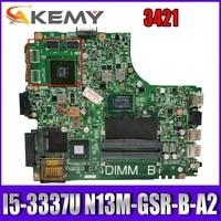 akemy laptop motherboard for dell inspiron 3421 i5 3337u sr0xl n13m gsr b a2 mainboard 12204 1 cn 055njx 055njx