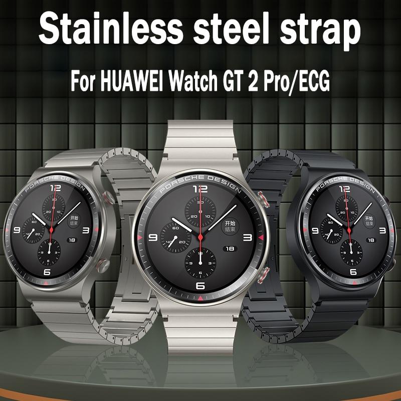 22mm Stainless Steel Bracelet For HUAWEI Watch 3 GT 2 Pro ECG Strap For Samsung Galaxy Watch 46mm  Gear S3 S2 Ceramic Strap