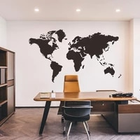 world map wall sticker decal 42x7559x33cm black decor wallstickers wallpaper home bedroom room stickers living decoration n0e7