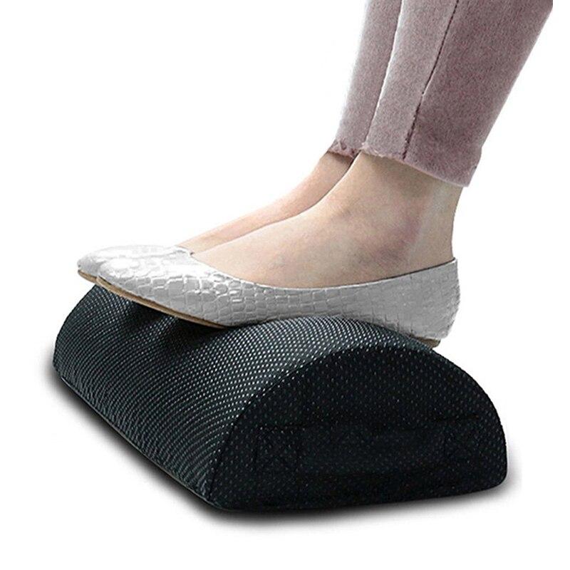 Qualität Komfort Fuß Rest Kissen Kissen Memory Foam Unter Büro Schreibtisch Halb Zylinder Hause Fuß Entspannen Schmerzen Relief Entspannende Cushio