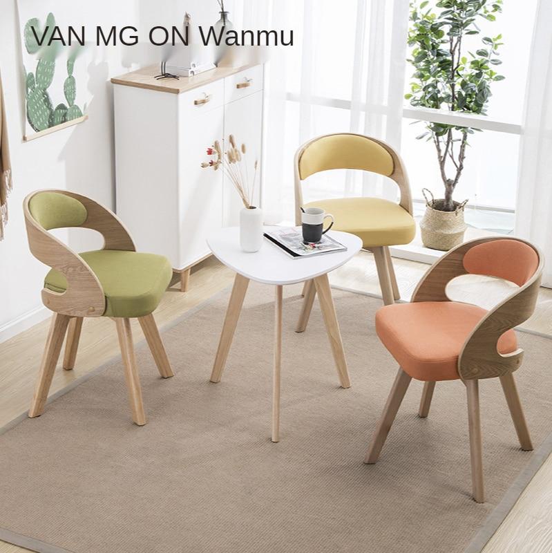 كرسي الاستجمام الشمال غرفة المعيشة كرسي شرفة الحديثة بسيطة النسيج مقاعد انتظار الطعام الصلبة موبليس أريكة واحدة