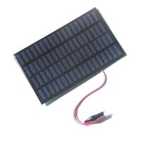 2.5W 18V Solar Cell Polycrystalline Solar Panel+Crocodile Clip For Charging 12V Battery System 194*120MM 2pcs/lot Epoxy