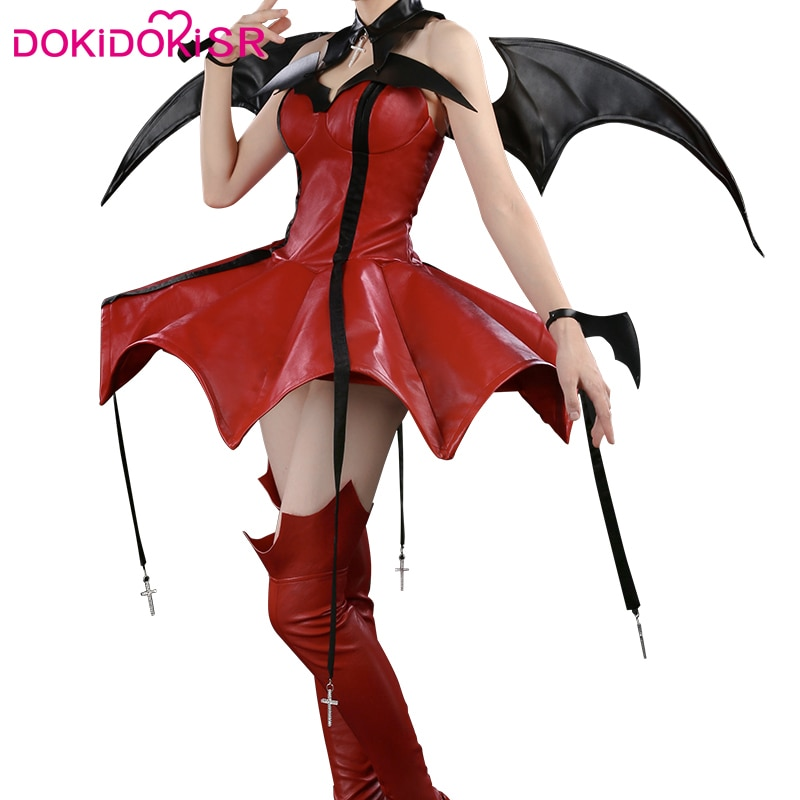 DokiDoki-SR Аниме Косплей Shugo Chara Tsukiyomi Utau костюм для косплея дьявол женский костюм на Хэллоуин