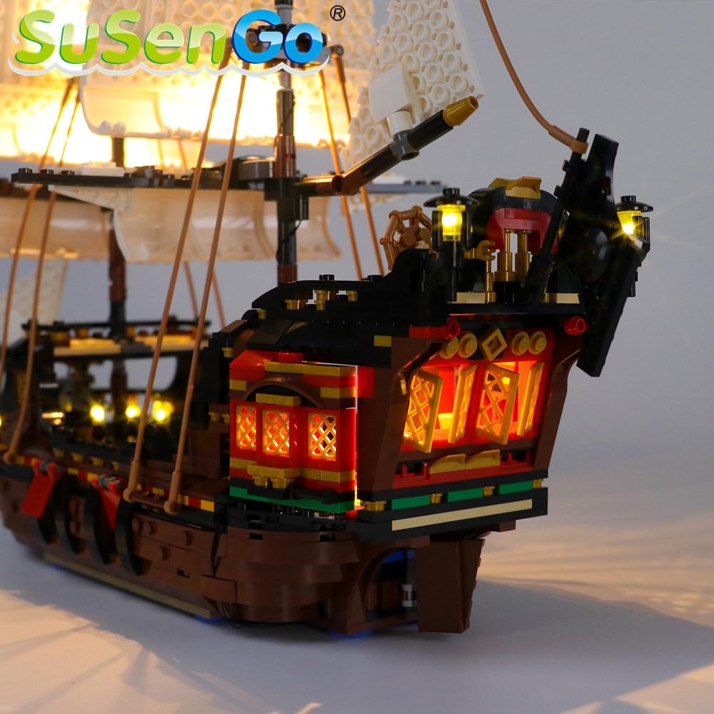 Купить с кэшбэком SuSenGo LED Light kit For 31109 CREATOR Pirate Ship , (Model Not Included)