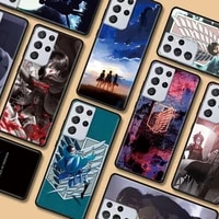 attack on titan case for samsung galaxy s20 fe s21 uitra s10 plus note 20 uitra s10 10 s9 plus s8 9 lite phone cover capa